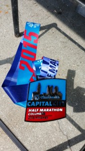 2015 Capital City Half Marathon Finisher's Medal -- Achieving Millennial