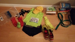 Obligatory Columbus Marathon race outfit picture -- achieving millennial