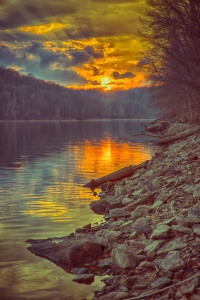 salt fork sunset hdr -- achieving millennial