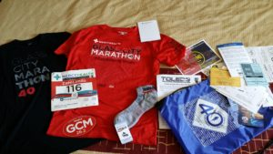 2016 glass city marathon swag -- achieving millennial