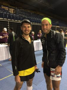 aaron and I at the 2016 glass city marathon -- achieving millennial